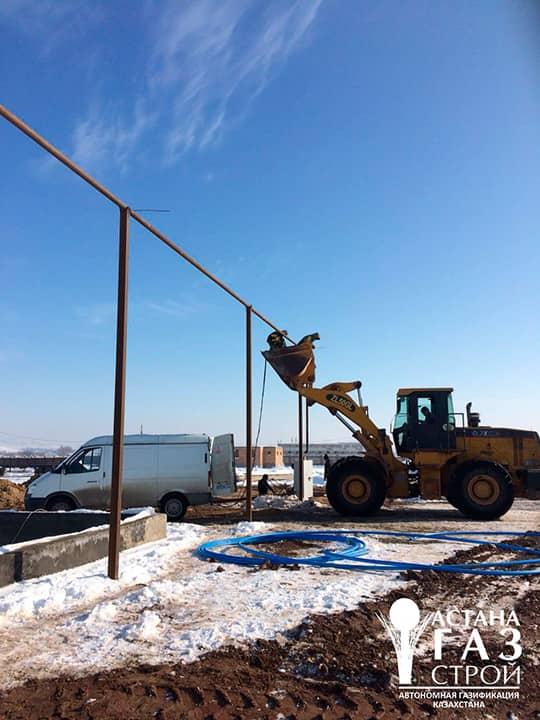 Надземный газопровод СУГ от испарительной установки DAGES 40 метров