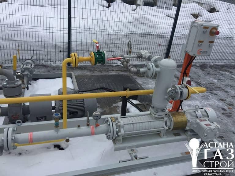 Автономная газификация котельной 3 МВт СУГ -Самовсасывающий насосный агрегат