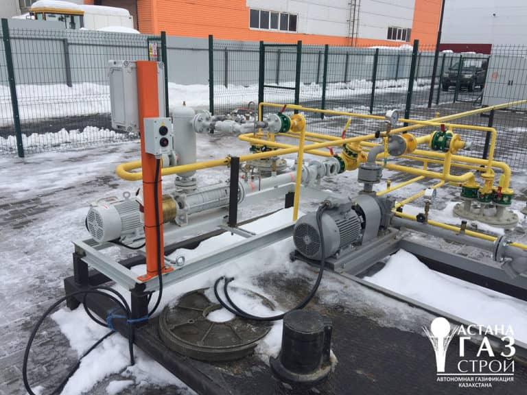 Автономная газификация котельной 3 МВт - самовсасывающая насосная установка для СУГ-фото