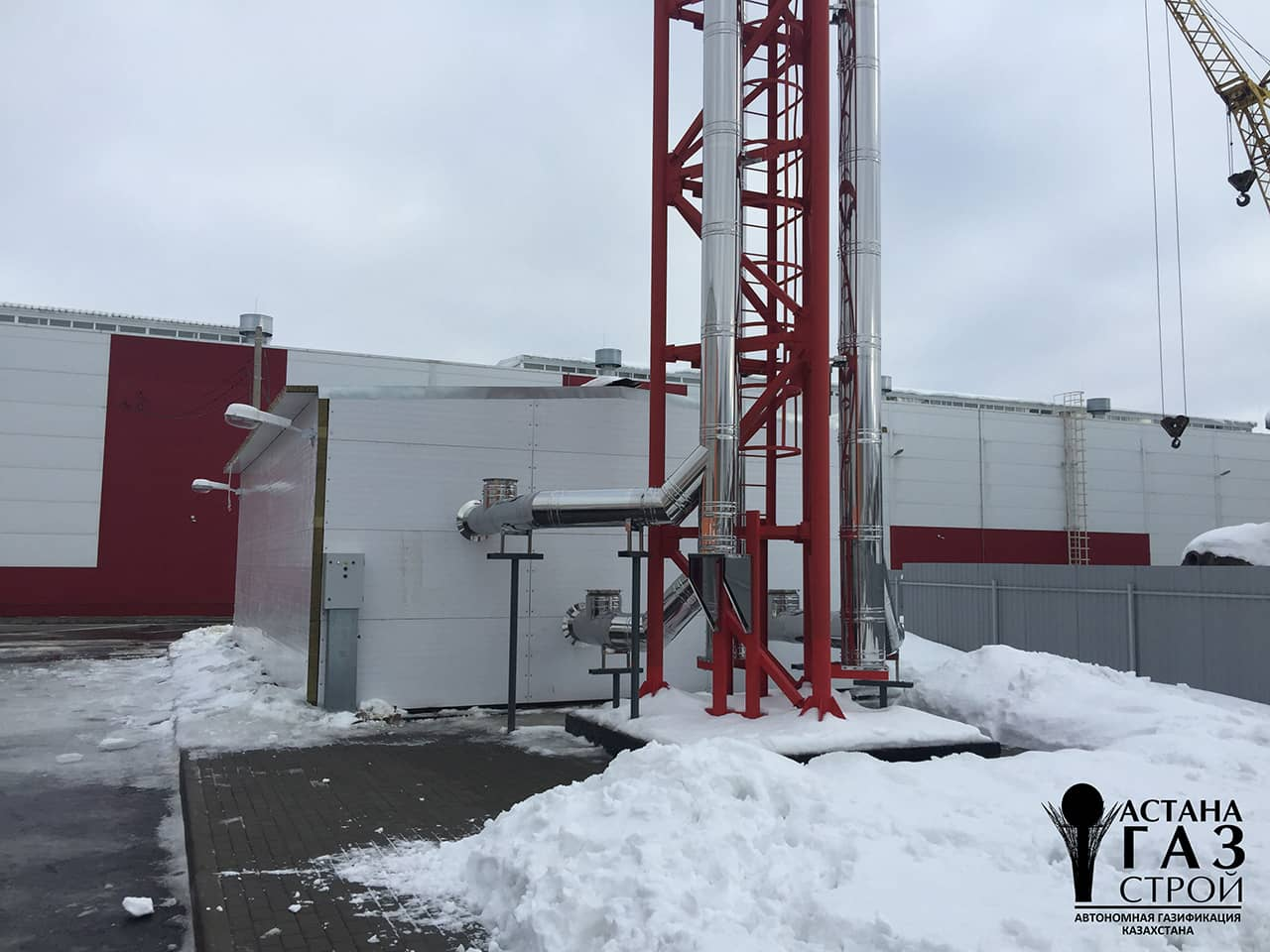БМК 3200 кВт с дымоходами-фото
