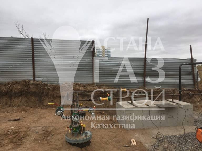 Монтаж трубопроводов ГРУ для хранения СУГ