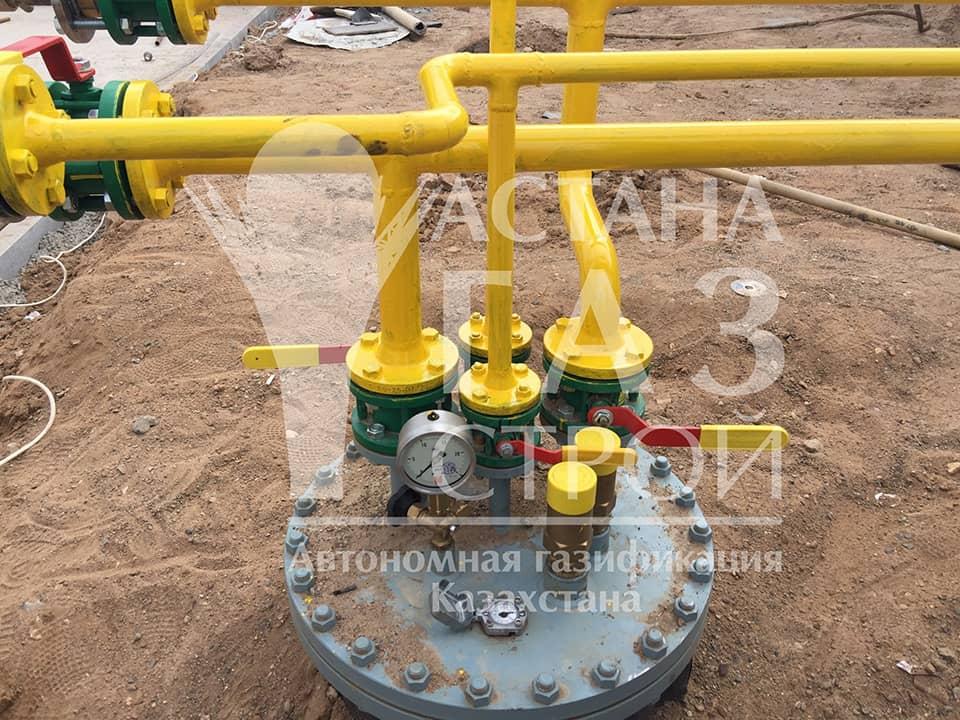 Подключение трубопроводов для СУГ к резервуарам