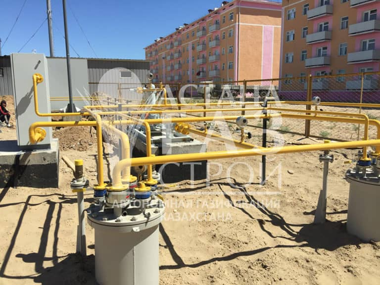 Резервуары и трубопроводы СУГ ГРУ в г. Туркестане