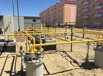Резервуары для хранения пропан-бутана с испарительной установкой и насосной установкой