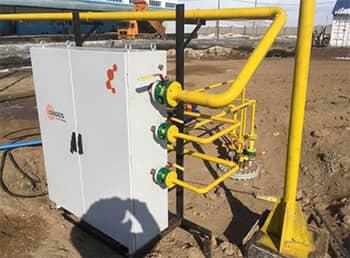 Подключение испарительной установки DAGES к газопроводу СУГ