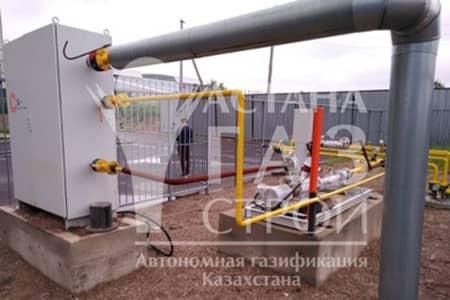 Подключение испарительной установки DAGES к подземному газопроводу СУГ