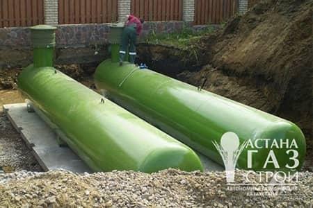 Два резервуара по 10м3 для подземного размещения
