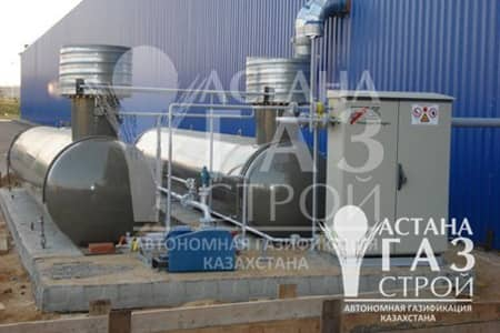 Газгольдеры, насосный агрегат и сипарительная установка FAS