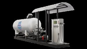Модульная газозаправочная станция (АГЗС) с насосом тип FD-150 и одной емкостью 4,85 НС с номинальным объемом 4,85 м³
