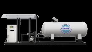 Модульная газозаправочная станция (АГЗС) с насосом тип RT-150 и одной емкостью 4,85 НС с номинальным объемом 4,85 м³