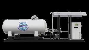 Модульная газозаправочная станция (АГЗС) с насосом тип RT-150 и двумя емкостями 4,85 НС с номинальным объемом 4,85 м³
