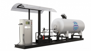 Модульная газозаправочная станция (АГЗС) с насосом тип NZ-36 и одной емкостью 6,6 НС с номинальным объемом 6,6 м³