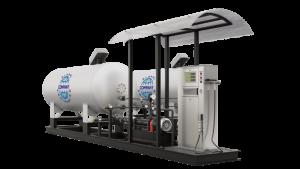 Модульная газозаправочная станция (АГЗС) с насосом тип NZ 36-8 и двумя емкостями 4,85 НС с номинальным объемом 4,85 м³